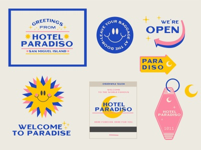 Hotel Paradiso hotels gara vacation sun happy paradise design logo branding paradiso hotel branding hotel