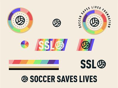 Soccer Saves Lives Branding branding gara soccer badge futbol football inclusive rainbow sports foundation non-profit soccer