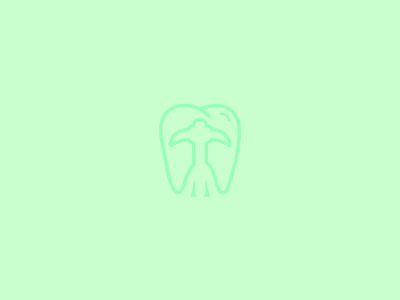 Toothpick Dentistry negative space logo design logo pick tooth