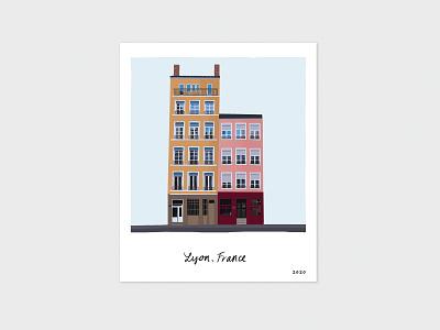 Scenes from Lyon, France / 2020 scene memories homes buildings architecture print design procreateapp drawing ipadpro wallart print illustration travel france lyon