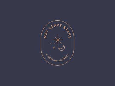 May Leave Stars Logo gold navy moon journey healing cancer star stars logo design branding brand brand design logo