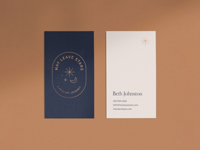 May Leave Stars Business Cards gold print journey healing stationery brand brand identity branding business card stars
