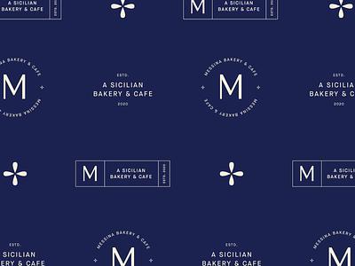 Messina Bakery & Cafe Submarks cafe bakery design clean minimal sub mark submarks secondary submark logo brand identity branding design branding
