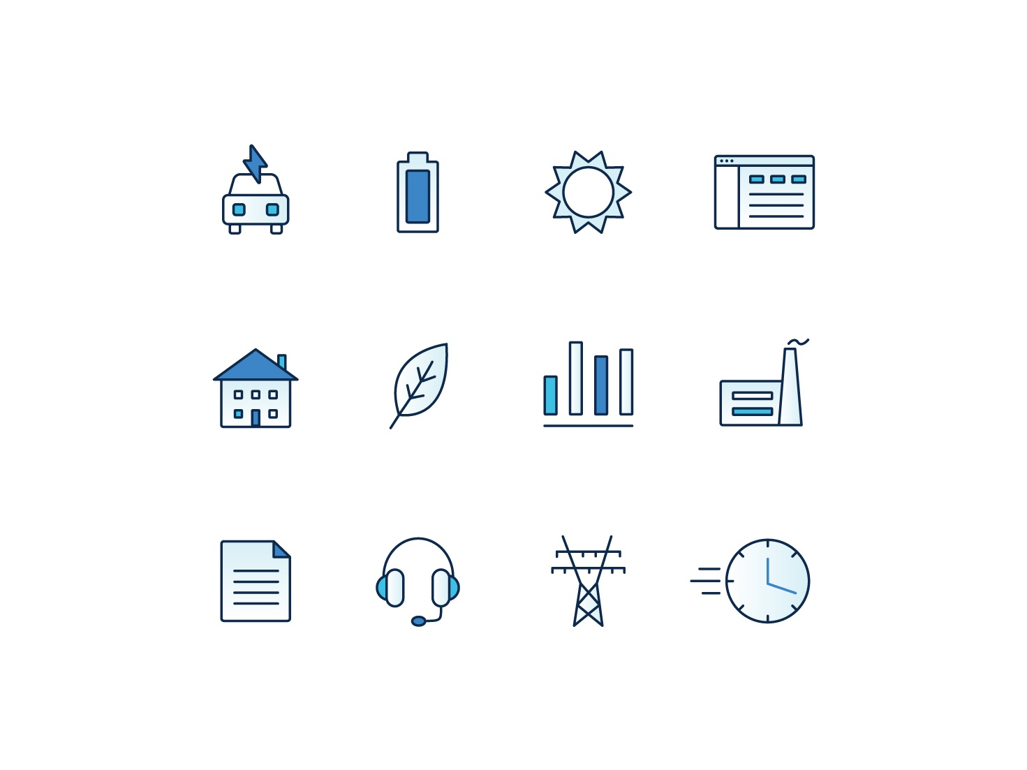Iconography clean energy ui icons uidesign website web design icon icons iconography