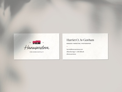 Hanusarstova Business Cards