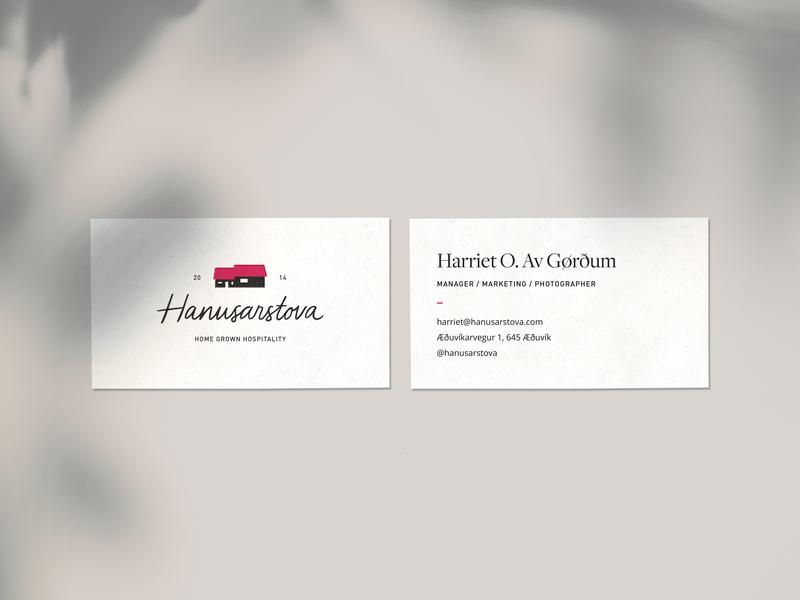Hanusarstova Business Cards home handwritten handwriting business cards handdrawn type hand lettering handlettering branding logo hospitality farmhouse farm house identity business logo business card