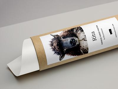 Sticker Design cardboard tube cardboard minimal branding label farm sheep poster poster packaging packaging stickers sticker