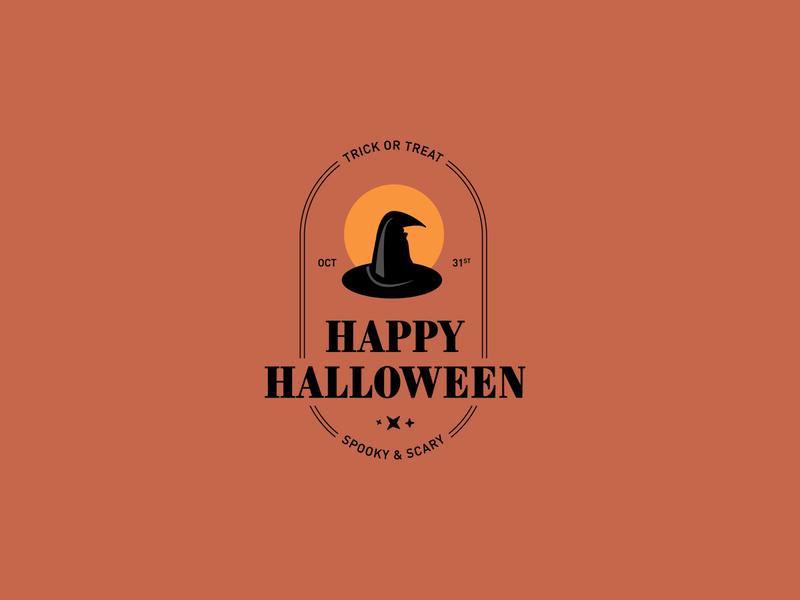 Happy Halloween! october moon orange trickortreat witch hat witch scary spooky happy halloween halloween