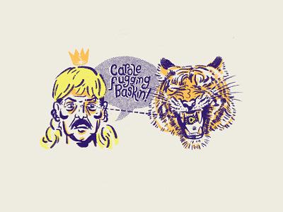 Carole Fugging Baskin halftone texture lettering typography doodle procreate king