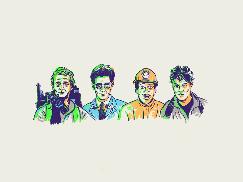 Ghostbusters egon bill murray movie illustration