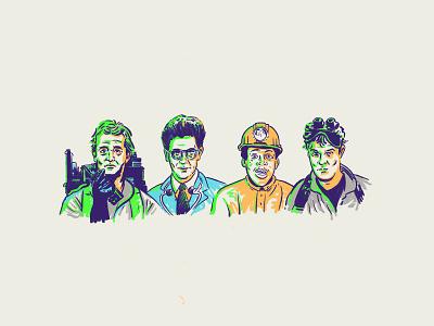 Ghostbusters egon bill murray movie illustration