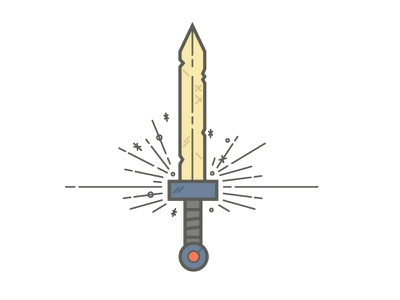 Adventure Time Sword adventure time sword flat sweet cool amazing cartoon illustrations icons ipad iphone