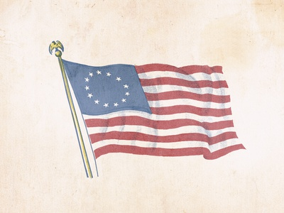 Ragged Old Flag halftone retrosuppy illustration patriotic proud 4thofjuly amrican america