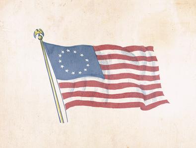 Ragged Old Flag halftone retrosuppy illustration patriotic proud 4thofjuly amrican america