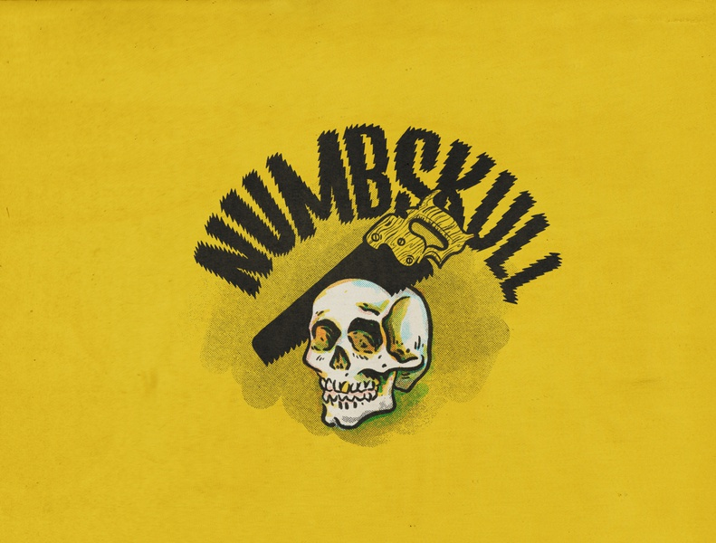 Numbskull texture skulls you might be a lettering skull logo retrosupply skull art your opinion skull halftone illustration
