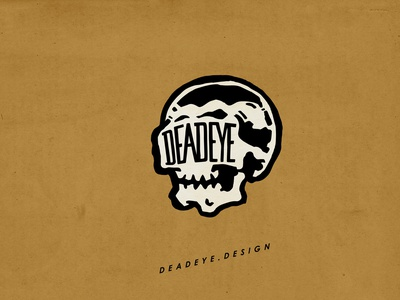 Deadeye Design logo idea logo design skull mascot logo illustration