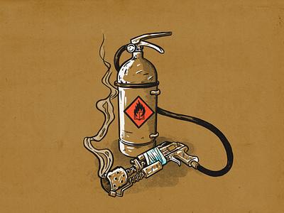 Fahrenheit 451 fire department smoke flamethrower fire canceled burn books censorship