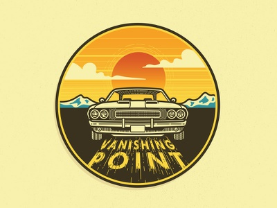 Vanishing Point sticker line drive in movies movie action muscle cars