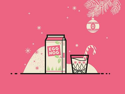 Merry Christmas snow ornament line egg nog christmas merry