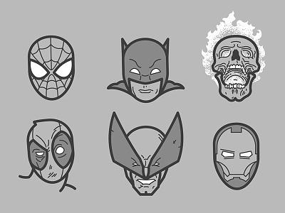 Comic Heroes iron man wolverine deadpool ghost rider batman spiderman funko