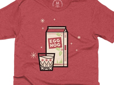 Egg Nog drunk christmas hollidays cottonbureau shirt egg-nog