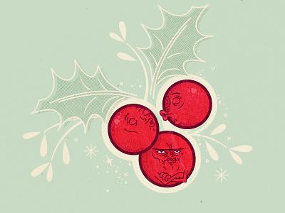 Mistletoe holliday christmas berry illustration irritable mistletoe