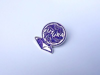 Futura Is The Future Pin