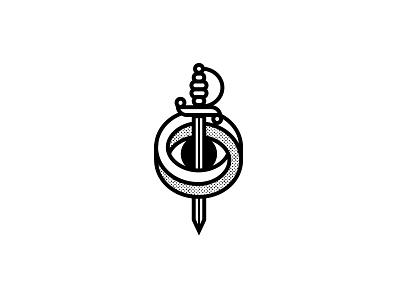 Dead Eye Logo experiment logo optical illusions cocktail sword sword dead eye