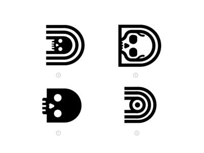 Deadeye Design Co logo skull logo logo alphabet branding leterform letter d d brand logo deadeye skull