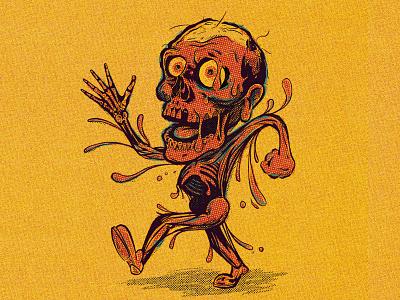 Tar Man skull skeleton mascot character design zombie tarman halloween