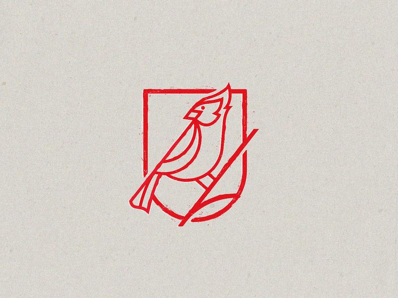 Cardinal Camper Logo camper cardinal design simple modren illustration