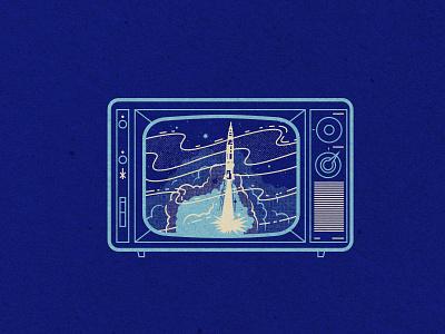 Apollo 11 reception explosion rocket retro tv static tv nasa apollo 11 space