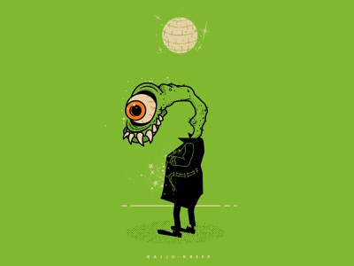 Kaiju Kreep bad guy creep flash dance party dance halloween vector design illustraion kreep