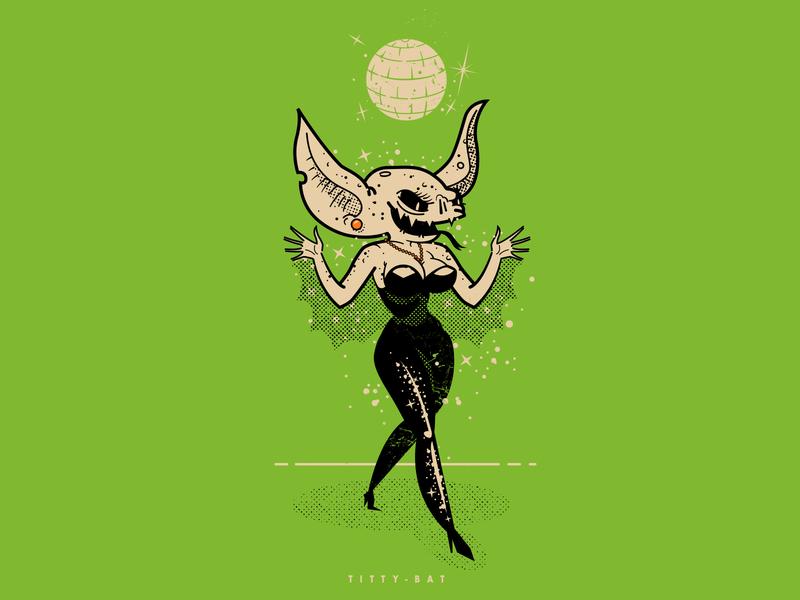 TITTY BAT cat walk strut dance halloween party monsters inc monster dance party halloween pin up pinup girl bat