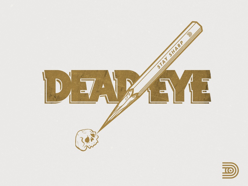 DEAD EYE branding elements personal brand design logo line illustration