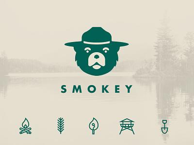 SMOKEY concept logo icon icon set branding