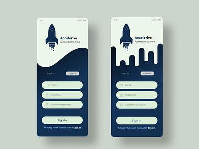 Sign up screen 1 illustration branding vector design typography ux ui