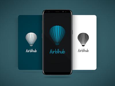 Airblhub Logo graphic design branding typography ux ui