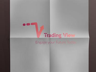 Trading View logo design branding typography illustration graphic design icon logo vector