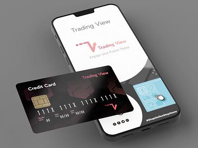 Trading View Mock up graphic design typography branding vector design icon illustration logo