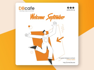 Welcome September vector design illustration branding typography graphic design