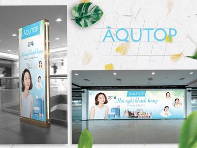 Aqutop: Brand Identity illustration branding