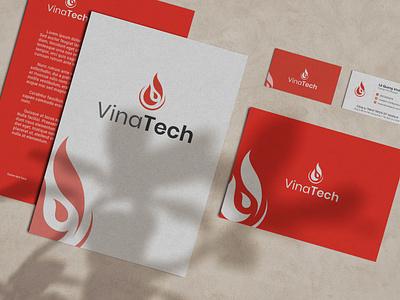 VinaTech: Logo & Brand Identity logo design branding