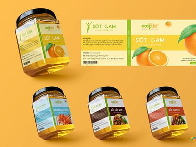 Easydiet: Packaging design box packaging illustration