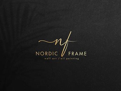 Logo Nordic Frame vector illustrator typography flat logo design logo design illustration branding