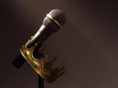 Coming Soon - Brand Development Landing Page microphone crown web development web design