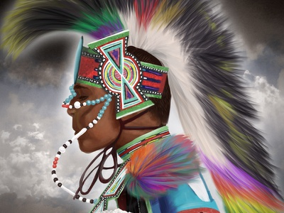 Illustration Close-Up: First Nations Dancer illustration digital painting painting first nations
