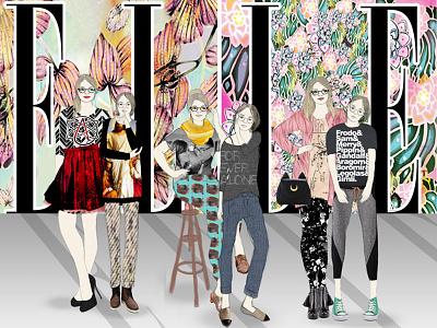 Illustration Close-Up: Self-Portrait illustration fashion
