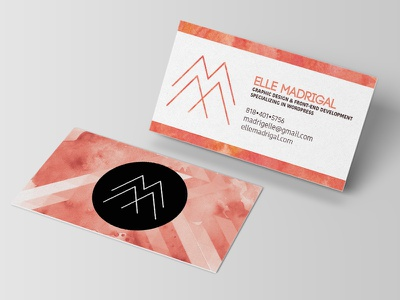 Personal Business Card Redesign branding business card