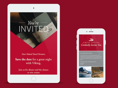 E-mail Invite Designs email template invite wine red e-mail